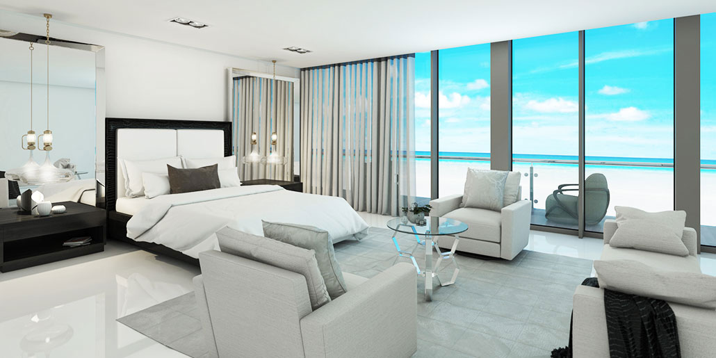 Modern White home decor modern furniture ocean front